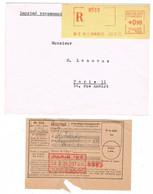 IMPRIME RECOMMANDE AVEC RECEPISSE PARIS 123 - 1921-1960: Periodo Moderno
