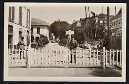 MENTONE (1940/43) Nouvelle Frontière Imposée Par L'Italie. RARE Carte Photo écrite Au Verso. - Menton