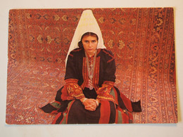 CPA Israël Bethléem Femme Robe Broderies 1978 - Israël