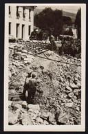 MENTONE (1940/43) Menton Après Les Bombardements Italiens. RARE Carte Photo écrite Au Verso - Menton