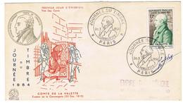 ENVELOPPE PREMIER JOUR 969 LAVALETTE JOURNEE DU TIMBRE SIGNATURE - 1950-1959