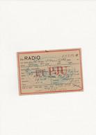 CARTE RADIO - Non Classificati