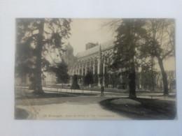 Cpa Bourges Jardin De L'Hôtel De Ville.La Cathédrale 1916 - Bourges