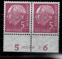 Bund 1954,Michel# 179 V HAN * Mit Falz 3 Verschiedene HAN - Unused Stamps