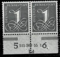 Bund 1955,Michel# 226 Xv HAN * Mit Falz 2 Verschiedene HAN - Unused Stamps