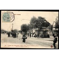 75 - PARIS (XXe Arrt) - Cours De Vincennes - Station Du Métropolitain Pris De L'Usine De Gaz - District 20
