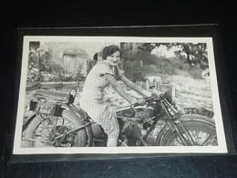 CARTE PHOTO ANONYME DE MOTO TERROT - VIEILLE MOTO (C.U) - Moto