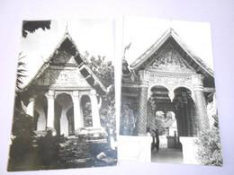 Wat Pa Houak Luangprabang Laos Lot 2 Carte Photos écrites TBE - Laos
