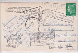 1969 - CP De LOURDES => ST SULPICE (HTE VIENNE) ERREUR => BELGIQUE - INCONNU ! => RETOUR OFFICE ITALIEN Puis FRANCAIS ! - Linear Postmarks