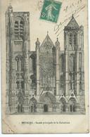 BOURGES  Façade Principale De La Cathédrale - Bourges