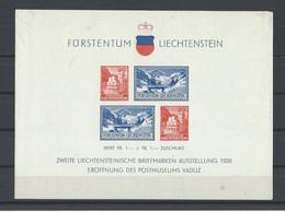 LIECHTENSTEIN.  YT  Bloc N° 2  Neuf *  1936  (voir Détail) - Bloques & Hojas