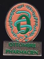 71433- Pin's -Richardot Ottombre. Pharmacies à Nice .médical.caducée. - Medici