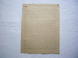 """Rapport De Mer Rédigé Par E. Mace Capitaine Du """"Capricieuse"""" Février 1914 à Bordeaux 7 Pages - Non Classificati"""