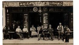 PARIS BRASSERIE MICHEL RUE DE CHARONNE CARTE PHOTO TRES ANIMEE - Cafés, Hotels, Restaurants