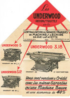 BROCHURE PUBLICITAIRE MACHINE A ECRIRE UNDERWOOD RECONSTRUITES - Publicidad
