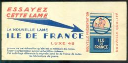 France Publicité Avec Lame De Rasoir Ile De France Luxe 48 (Plié) - Razor Blades