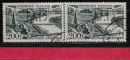 @  Perfin France  Perfore D.D 30  Sur Poste Aérienne Bande De 2 - Perfins