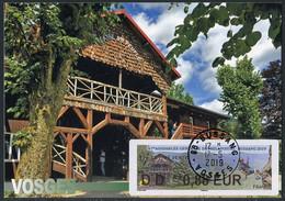 FRANCE (2019). Carte Maximum Card - ATM LISA 67 Assemblée Philapostel Bussang - Théatre Du Peuple - 2010-...