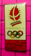 SP16 Pin's Pins / Beau Et Rare / THEME : JEUX OLYMPIQUES / ALBERTVILLE 1992 COCA-COLA - Giochi Olimpici