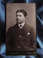 Photo CDV Winguth à Worms (Allemagne)  Portrait Jeune Homme élégant  CA 1890 - L556 - Old (before 1900)