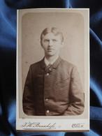 Photo CDV Braschofs à Coln Cologne  Portrait Jeune Homme  Veste à Carreaux  CA 1890 - L556 - Old (before 1900)