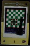 PALESTINE 2002 PHONECARD CHESS MINT VF!! - Giochi