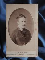 Photo CDV Jungmann à Basel  Portrait Femme  Yeux Clairs  CA 1880 - L556 - Old (before 1900)