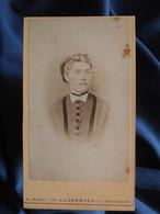 Photo CDV Jungmann à Basel  Portrait Jeune Femme Blonde  Yeux Clairs  CA 1875 - L556 - Old (before 1900)