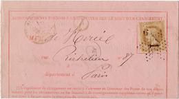 Lettre Direction Générale Des Postes - NAPOLEON N°28B - Double Cachet Etoile De PARIS N°1 Cachet Place Bourse De 1870 - 1849-1876: Classic Period