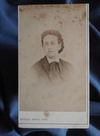 Photo CDV Kohler-Dietz à Mulhouse  Portrait Femme  Lorgnons  Lavalière  CA 1870-75 - L556 - Old (before 1900)