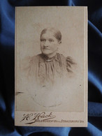 Photo CDV Hack à Strasbourg  Portrait Femme âgée  CA 1895 - L556 - Old (before 1900)