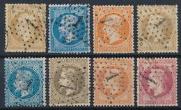 EB-151: FRANCE: Lot Avec Obl étoile 1 Sur N°21-22-23-28A-29B-30-31-32 - 1849-1876: Classic Period