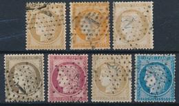 EB-153: FRANCE: Lot Avec Obl étoile 1 Sur N°36-38-55-56-57-59-60A - 1849-1876: Classic Period