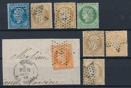 EB-154: FRANCE: Lot Avec Obl étoile 2 Sur N°21-28A-32-53-58  -  étoile 3 Sur N°21-38-55 - 1849-1876: Classic Period