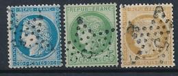 EB-156: FRANCE: Lot Avec Obl étoile 5 Sur N°37-53-59 - 1849-1876: Classic Period