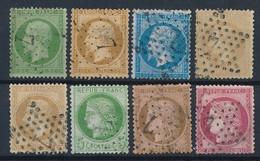 EB-157: FRANCE: Lot Avec Obl étoile 7 Sur N°20-21-22-28A-28B-53-54-57 (1 Dent Faible) - 1849-1876: Classic Period