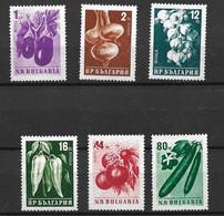 BULGARIA 1958 Vegetables MNH - Gemüse