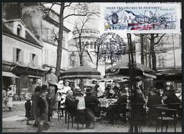 FRANCE (2017). Carte Maximum Card - ATM LISA Salon Philatélique Printemps Paris, Montmartre, Place Tertre, Sacré-Coeur - 2010-...