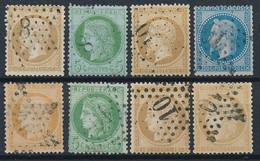 EB-159: FRANCE: Lot Avec Obl étoile 8 Sur N°21-53  -  étoile 10 Sur N°21-29B-38-53-55-59 - 1849-1876: Classic Period