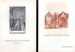 LOT De 2 Encart S 1° Jour N°té Sur SOIE De 4 Pages. Voir Les Scans Pour L'état - Collections
