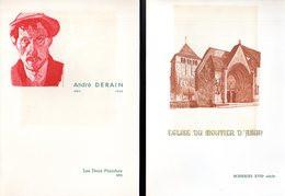 LOT De 2 Encarts 1° Jour N°té Sur SOIE De 4 Pages. Voir Les Scans Pour L'état - Collections