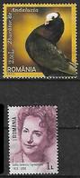 2005-18 Rumania Fauna Aves Paloma-personajes (primera Neurocirujana Del Mundo) 2v. - Nuevos