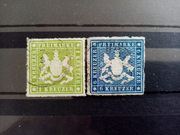WURTEMBERG.1866. N° 30 Et 32 Oblitérés  . Côte YT 2020 : 89,00 € - Wurtemberg