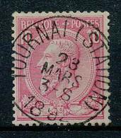 NB - [103588]TB//O/Used-N° 46, 10c Rose Sur Bleuté, S.M. Le Roi Léopold II, Oblitération 'TOURNAI'. - 1884-1891 Leopold II.