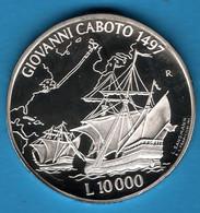 SAN MARINO 10000 LIRE 1997 GIOVANNI CABOTO 1497 KM# 371 Argent 835‰ SILVER PROOF SHIP BATEAU - San Marino
