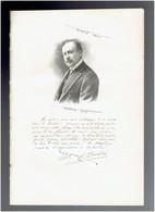 MICHEL PROVINS 1861 NOGENT SUR SEINE 1928 PARIS ECRIVAIN ECONOMISTE PORTRAIT AUTOGRAPHE BIOGRAPHIE ALBUM MARIANI - Historical Documents