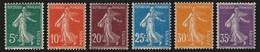 N°137/142, Semeuse Camée 1907, Série Complète, Neufs ** Sans Charnière - SUP - Unused Stamps