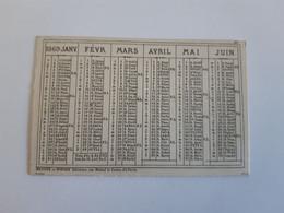 Calendrier 8,5/5,5cm De L'année 1869 ... Lot400 . - Formato Piccolo : ...-1900