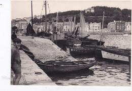 Photo De Particulier  Finistère Audierne Vue D'ensemble Du Port Beau Plan 1944  Réf 6204 - Places