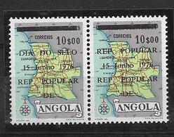 ANGOLA 1976 STAMP DAY TYPE ERROR III MNH - Angola